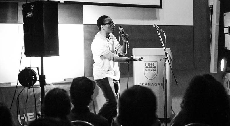UBCO's Lolu Oyedele vibrant stage presence garnered appreciation from fans and judges alike. Photo by Adam Flockemann.