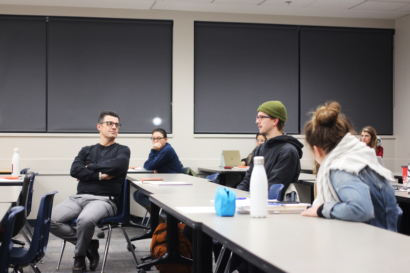 Students partake in discussion at guest lecture from Dr. Rich King