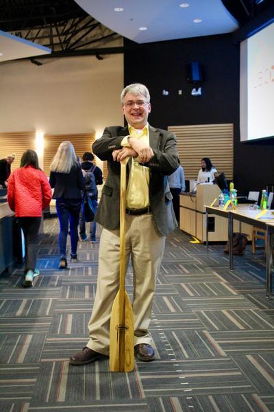Debate Winner, Dr. Stephen McNeil (Chemistry) - Photo by Andrea Marie Tan