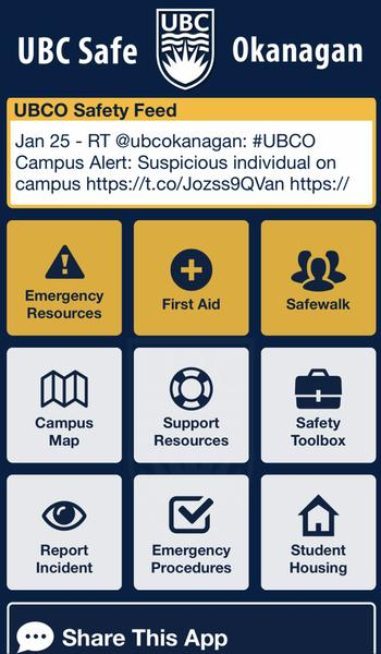 UBC Safe App Alert